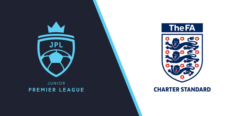 Junior Premier League and The FA Charter Standard Logos